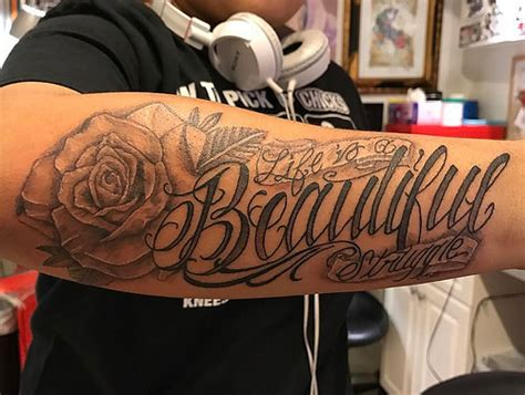 life is a beautiful struggle tattoo quot is a beautiful struggle quot doing fancy lettering