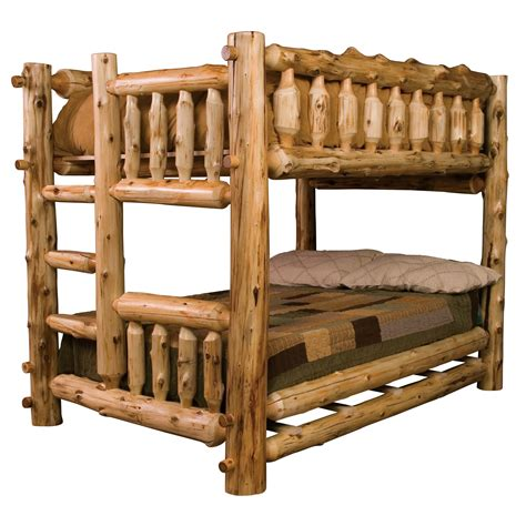 log beds cedar log bunk beds