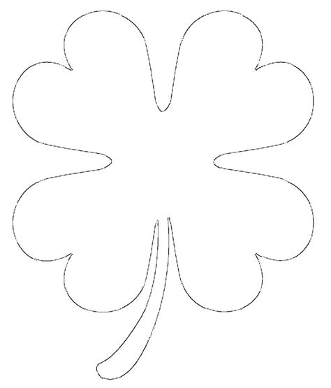 small template free printable four leaf clover templates large small