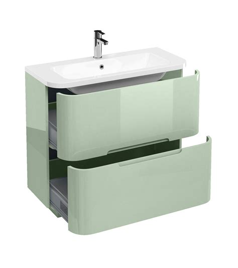 Aqua Bathroom Vanity by Britton Aqua Cabinet Floor Mounted Drawer Unit 900mm With