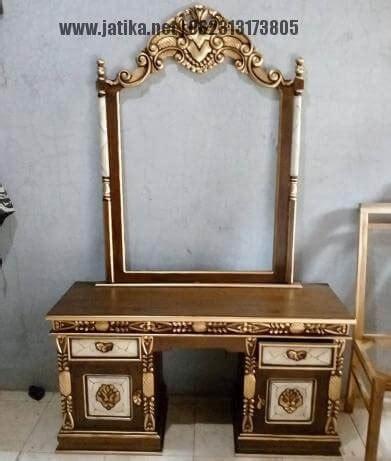 Meja Rias Gold Finishing Kayu Jati jual meja rias tolet ukir kayu jati jatika furniture jatika furniture