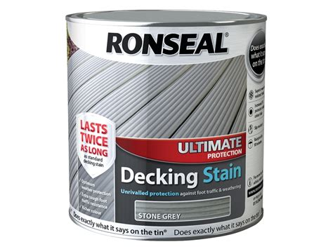 ronseal ultimate protection decking stain stone grey  litre