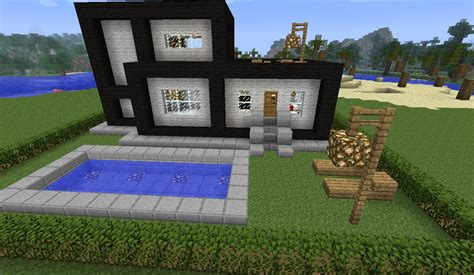 Luxury House Blueprints by A Modern House Map For Minecraft 1 8 1 7 10 1 7 2 1 6 4