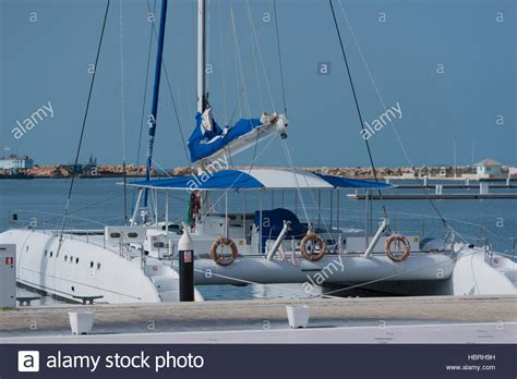 catamaran boat varadero catamaran boat in the marina varadero cuba stock photo