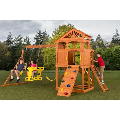 90s swing set creative cedar designs timber valley swingset shop your