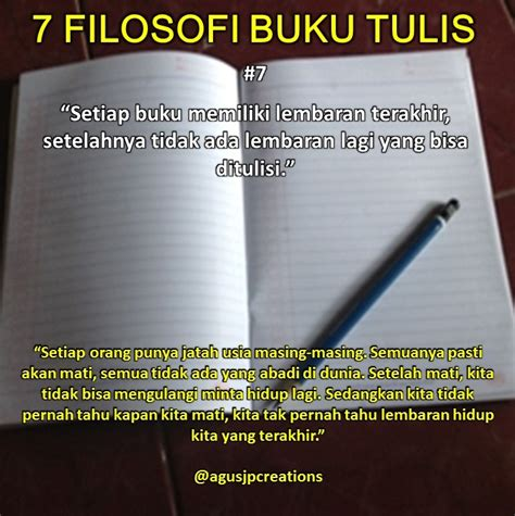 filosofi cerita pensil  buku tentang