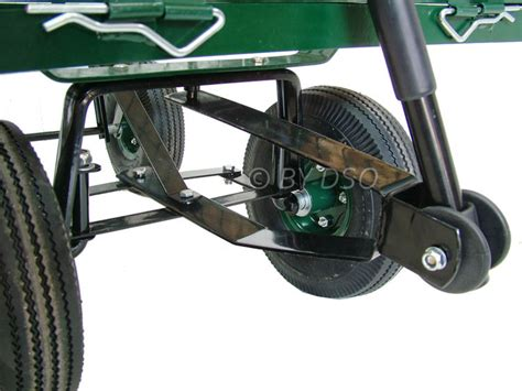 green blade large 4 wheel garden cart trolley with fold sides st300