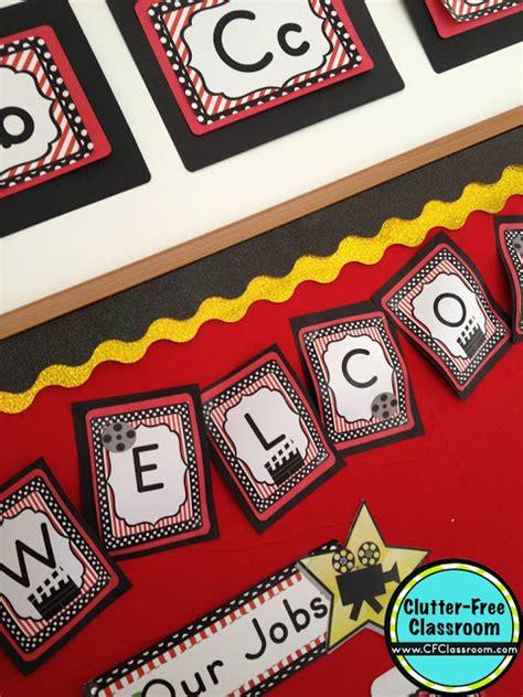 printable hollywood decorations hollywood themed classroom ideas printable classroom