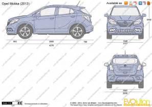 Dimensions Of Vauxhall Mokka The Blueprints Vector Drawing Opel Mokka