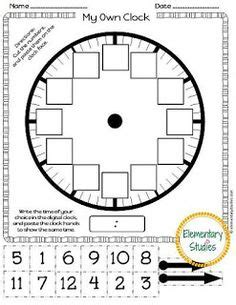 make your own clock template collection worksheets on time pictures worksheet for
