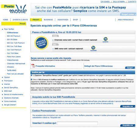 numero credito poste mobile postemobile da poste italiane piano convenienza e opzione