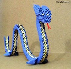 3d origami green snake tutorial origami 合 3d king cobra 合 origami tutorial 3d origami
