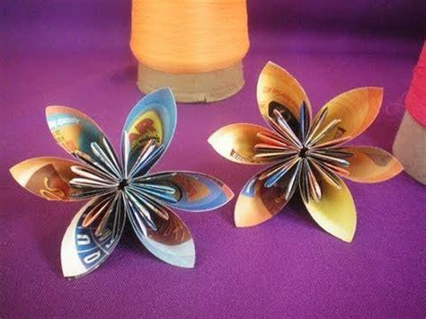Flor De Origami - flor de origami papel reciclado