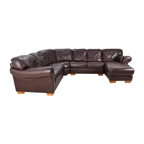 4 piece leather sectional sofa 63 off raymour flanigan raymour flanigan 4 piece
