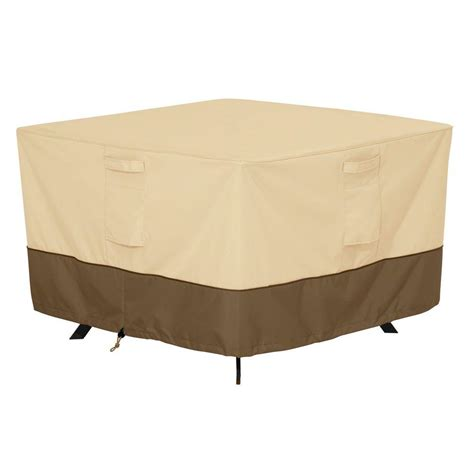 Patio Table Cover Classic Accessories Veranda Medium Square Patio Table Cover 55 566 011501 00 The Home Depot