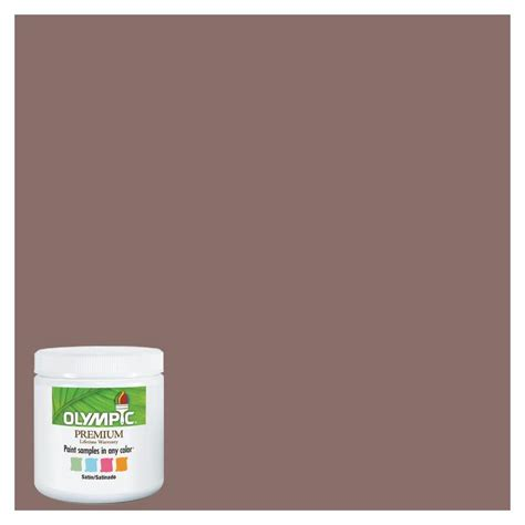 shop olympic 8 oz oakwood brown interior satin paint sle at lowes