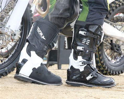 trail bike boots fly sector boots dirt bike test
