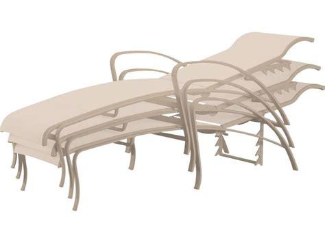 Tropitone Chaise Lounge Tropitone Spinnaker Sling Aluminum Adjustable Chaise Lounge 159932