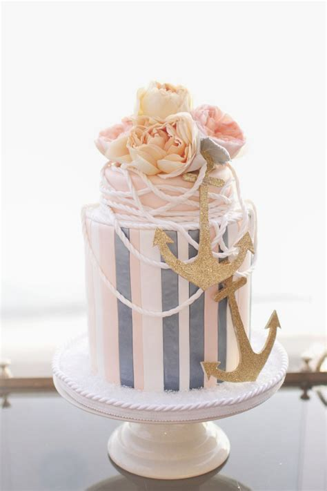 10 nautical wedding cakes pretty you may not want to eat knotsvilla