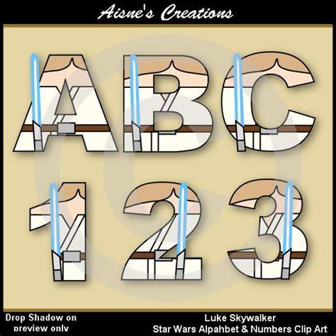 letter media wars luke skywalker wars alphabet letters numbers clip 1562