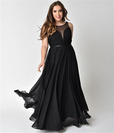 Chiffon Gown Black by Black Chiffon Illusion Sweetheart Gown Unique Vintage
