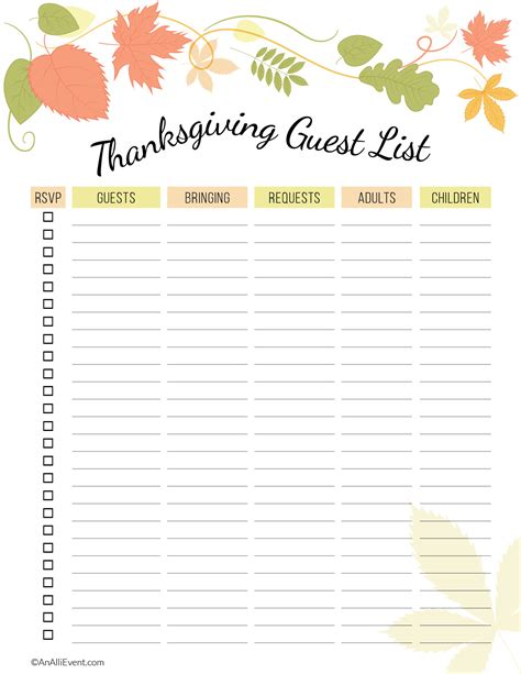 printable thanksgiving planner free thanksgiving planner printable an alli event