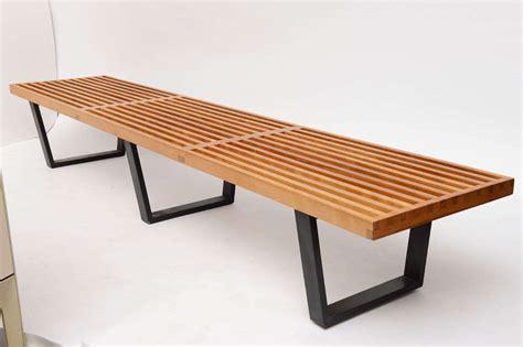 slat bench george nelson slat bench 4992 at 1stdibs