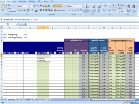 Inventory Spreadsheet Exles spreadsheet template for clothing sales calendar