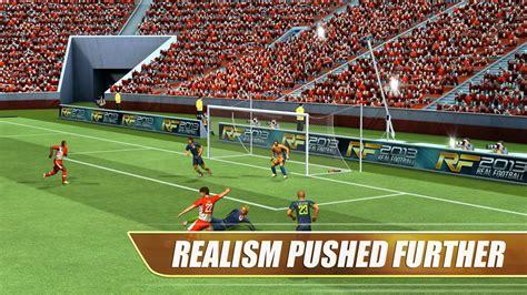 real football 13 apk real football 2013 apk v1 6 8b mod unlimited gold money apkmodx