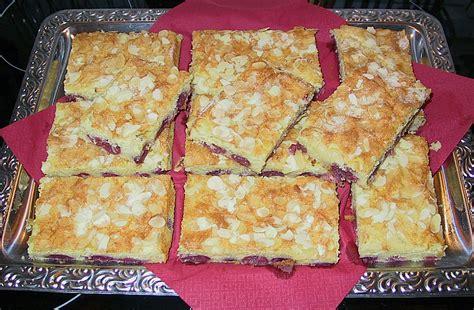 kirsch quark kuchen kirsch quark kuchen vom blech rezept mit bild