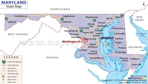 united states map of maryland maryland state map