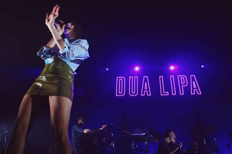 dua lipa on stage dua lipa brings contagious energy to the stage at sold out