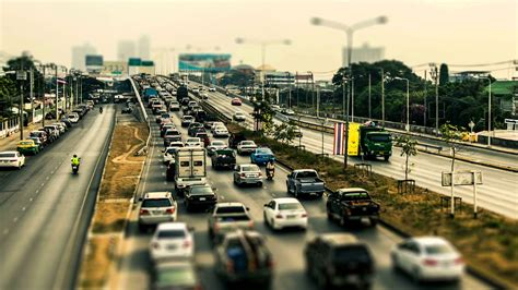 Jam Hd traffic jam rama5 bridge tiltshift hd