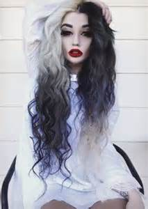 black and white hair color 1000 images about black and white hair on