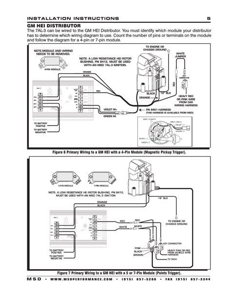 gm hei distributor installation instructions     msd  al  ignition control