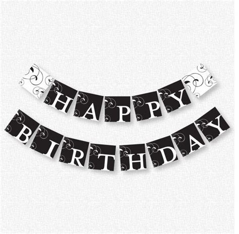 printable happy birthday banner black and white 7 best images of happy birthday banner printable black and