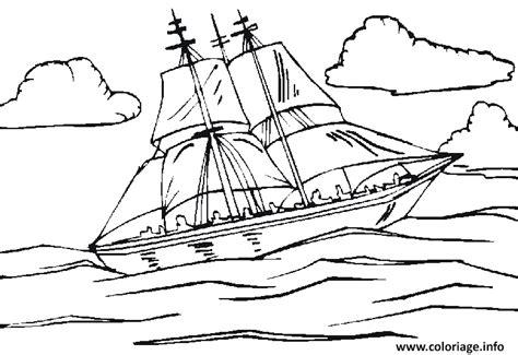 dessin facile bateau a voile coloriage bateau voilier en mer dessin