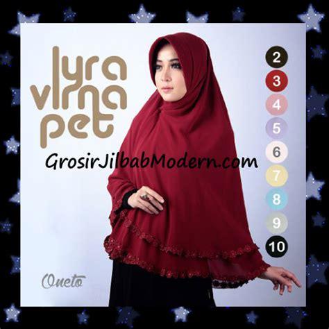 Khimar Lyra Virna Jilbab Khimar Terbaru Lyra Virna Pet Cantik Original Fa