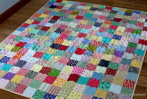 Patchwork Photo Quilt - blue is bleu one more patchwork quilt for the road