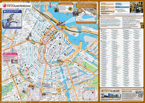 attractions in map maps update 35002483 amsterdam tourist attractions map