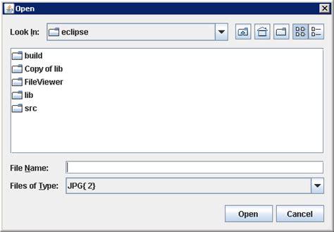 java pattern file extension adding accessory panels jfilechooser 171 swing 171 java tutorial