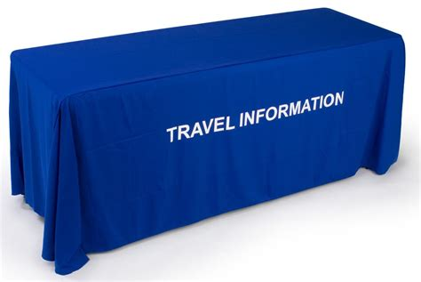 custom table drapes royal blue table drape with custom messages in 24 hours