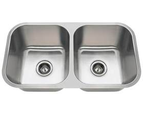 Kohler Kitchen Faucets 3218a double bowl stainless steel kitchen sink