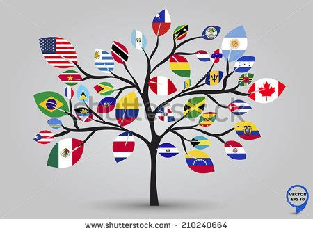 royalty free leaf flags of africa in tree design