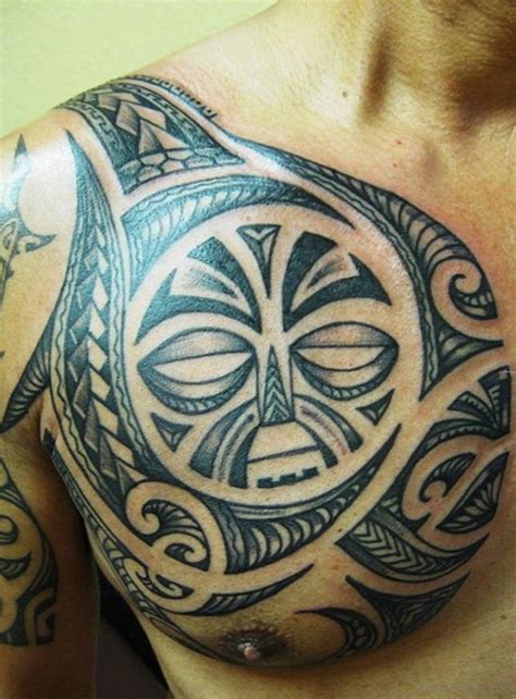 small polynesian tattoo 59 great tribal tattoos on chest
