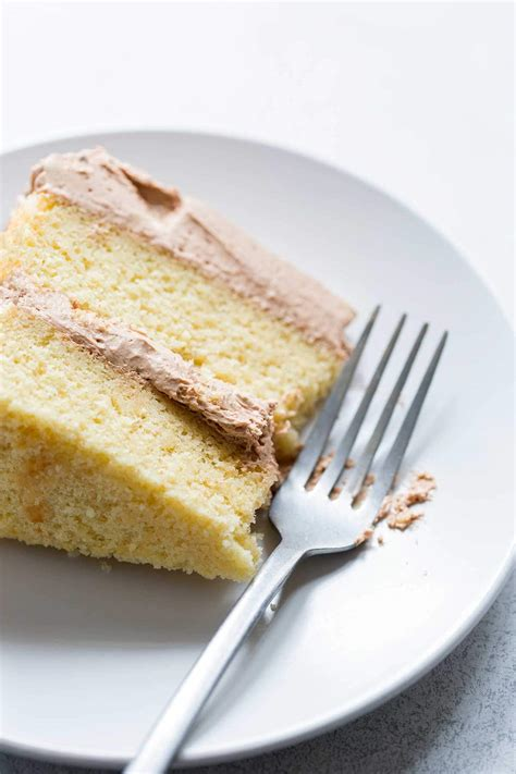 classic yellow cake recipe from scratch savory simple