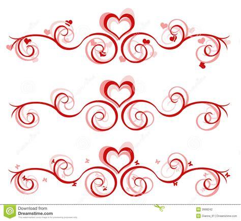 design banner valentine valentine banner 3 designs stock illustration