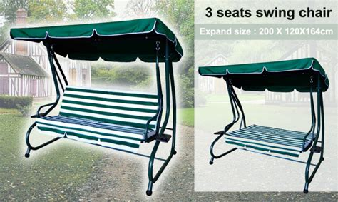 3 person swing chair 3 person seater patio swing chair patio swing chair bed