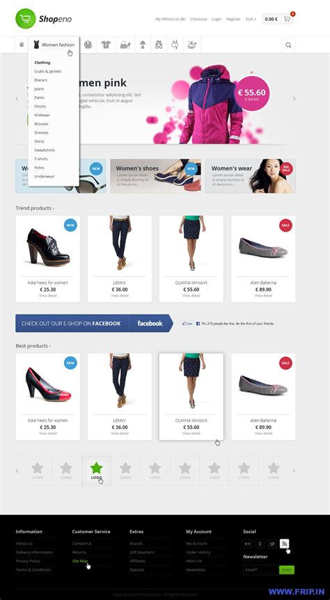 ecommerce psd templates free 20 beautiful premium psd shopping web templates frip in