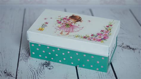 decoupage tutorial shoe box diy by catherine